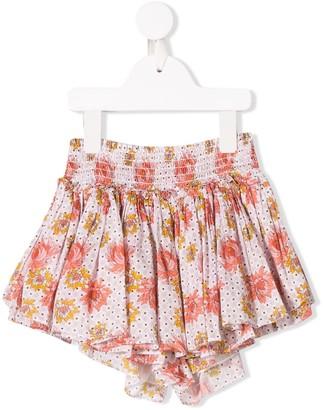 Velveteen Eloise floral print shorts