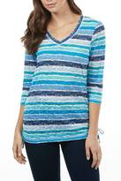 FDJ French Dressing Blue Mix Stripe Top
