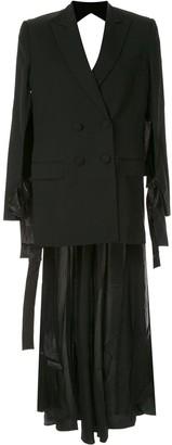 Seen Users Open-Back Blazer Dress