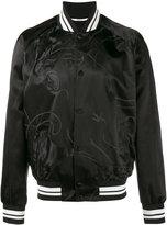 Valentino panther motif bomber jacket