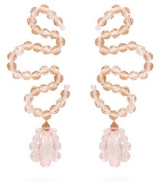 Simone Rocha Wiggle Crystal-embellished Earrings - Pink