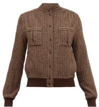 Raey Rib-trim Textured Tweed Shacket - Womens - Brown Multi
