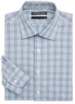 Saks Fifth Avenue BLACK Cotton Check Shirt