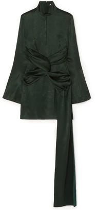 16Arlington Catherine Draped Satin Mini Dress