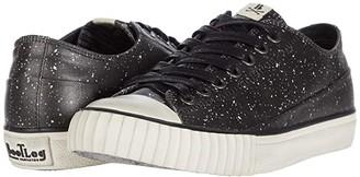 John Varvatos Vulcanized Coated Linen Splatter Low Top (Black/White) Men's Shoes