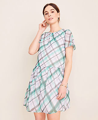 Ann Taylor Petite Plaid Shift Dress