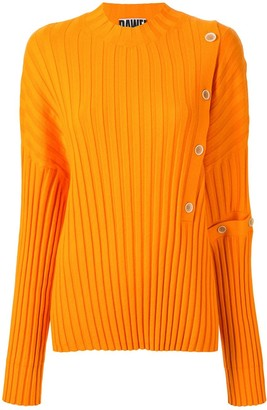 Dawei Buttoned Ribbed Jumper