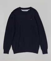 Tommy Hilfiger Swim Navy Alan Crew neck Sweater - Boys