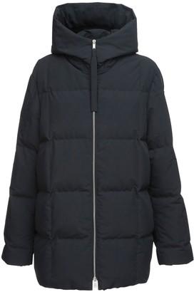 Jil Sander Oversize Hooded Nylon Down Coat