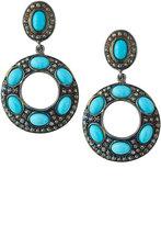 Bavna Turquoise & Diamond Drop Earrings