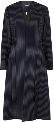 Chloé Navy pinstriped wool coat