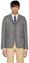 Thom Browne Black and White Assembled 220 Button Modular Blazer