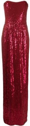 Jenny Packham Lila strapless sequin dress
