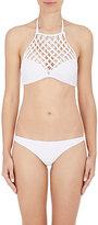 Mikoh Women's Lanikai Halter Bikini Top-WHITE