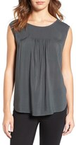 Velvet by Graham & Spencer Lace-Up Back Challis Top
