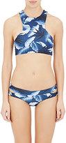 Mikoh Women's Banyans Racerback Bikini Top-BLUE