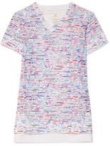 Lucas Hugh Glitch Printed Stretch-mesh T-shirt