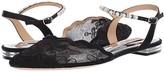 Badgley Mischka Lennon (Black Satin/Lace/Mesh) Women's Dress Sandals