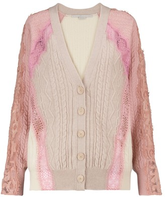 Stella McCartney Lace-trimmed wool cardigan