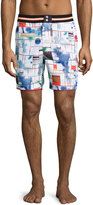 Robert Graham Ships Classic Fit Swim Trunks, Multi Print