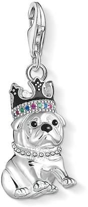 Thomas Sabo Crowned Bulldog Sterling Silver Charm Pendant