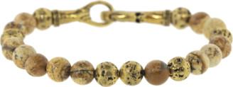 John Varvatos Jasper and Brass Bead Bracelet
