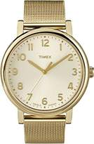Timex Originals Unisex T2N598 Quartz Watch with Gold Dial Analogue Display and Stainless Steel Bracelet