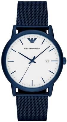 Emporio Armani Luigi 3-Hand Stainless Steel Bracelet Watch