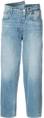Monse Zip-Waist Stonewashed Jeans