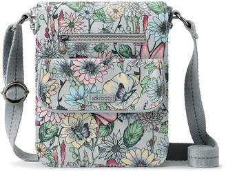Sakroots Women's Handbags Blush - Blush In Bloom Artist Circle Small Flap Messenger Bag