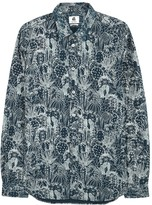 Ps By Paul Smith Navy Printed Cotton Shirt