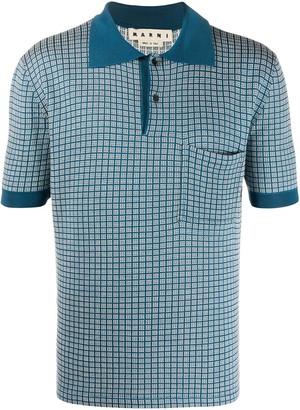 Marni Checkered Squares Polo Shirt