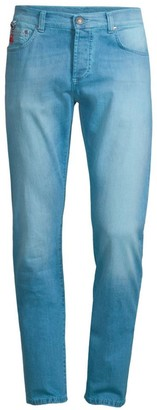 Isaia Slim-Fit Faded Jeans