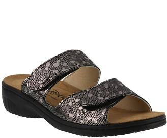 Spring Step Flexus by Leather Slide Sandals - Cippi