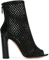 Casadei caged knit daytime boots - women - Leather/Straw - 38