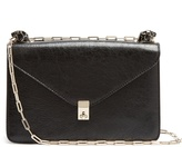 Valentino Panther-embellished leather shoulder bag