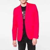 Paul Smith Men's Slim-Fit Fuchsia Mercerised-Cotton Stretch Blazer