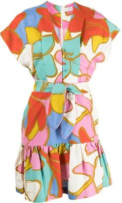 Rebecca Vallance Belted Flared Minidress