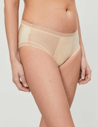 Fantasie Fusion striped high-rise woven briefs