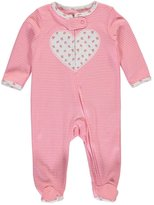 "Carter's Baby Girls' ""Floral Heart Split"" Footed Coverall"