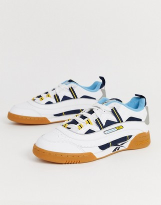Reebok workout plus recrafted trainers in white