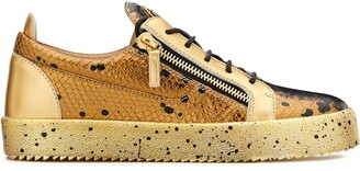 Giuseppe Zanotti Frankie low-top snakeskin-effect sneakers
