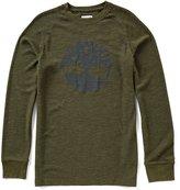 Timberland Dyer River Tree Logo Long-Sleeve Waffle Shirt