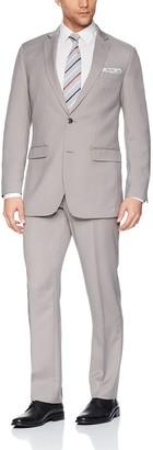 Perry Ellis Men's Solid Two Piece Slim Fit Suit