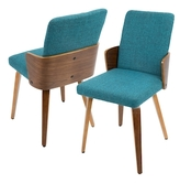 Lumisource Carmella Mid-Century Dining Chairs (Set of 2)
