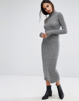 Minimum Moves Ribbed High Neck Sweater Dress