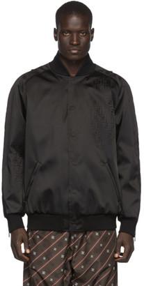 Fendi Black Nylon Forever Bomber Jacket