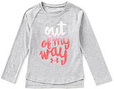Under Armour Little Girls 2T-6X Out Of My Way Long-Sleeve Tee