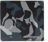 Alexander McQueen Camouflage-Print Pebble-Grain Leather Billfold Wallet