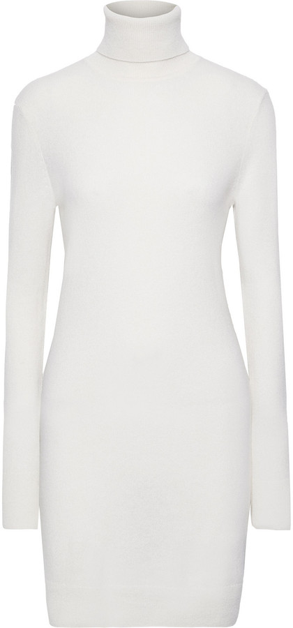 Oscar Cashmere Turtleneck Mini Dress